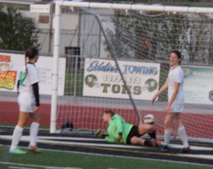 Haley Isaak, another ball in the back of the net.